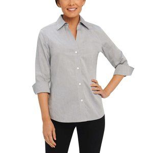 NWT Nordstrom Foxcroft Essential Paige Shirt Top